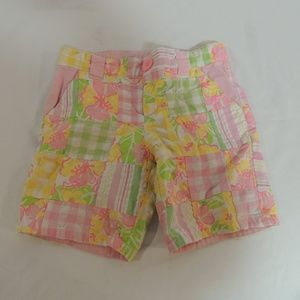 Lilly Pulitzer Madras Plaid girls shorts size 5